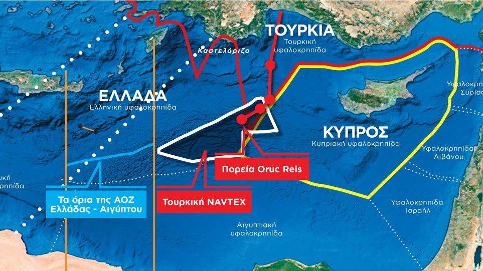 Κρίση στο Αιγαίο: Άγρια νύχτα με το Oruc Reis - Πλέει μέσα στην ...