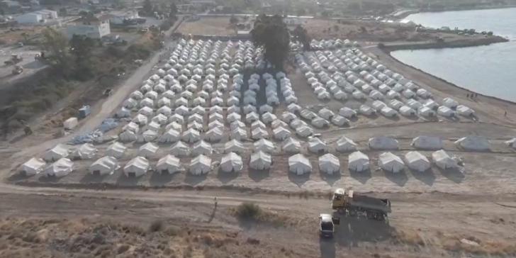 Καρά Τεπέ: Η πρώτη φάση του νέου προσωρινού ΚΥΤ στη Λέσβο -Εικόνες από drone [βίντεο] | ΕΛΛΑΔΑ | iefimerida.gr