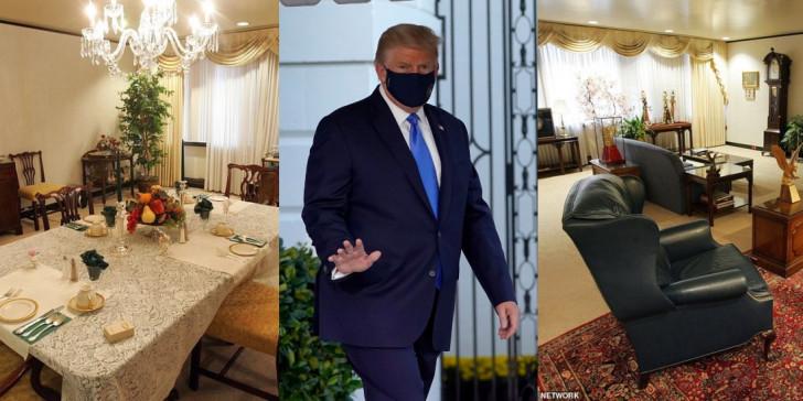 Ντόναλντ Τραμπ: Η πολυτελής σουίτα στην οποία νοσηλεύεται -Εχει γραφείο, σαλόνι και τραπεζαρία -Εικόνες χλιδής [εικόνες] | ΚΟΣΜΟΣ | iefimerida.gr