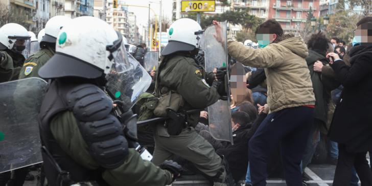 Επεισόδια στη Θεσσαλονίκη κατά τη διάρκεια διαδήλωσης φοιτητών