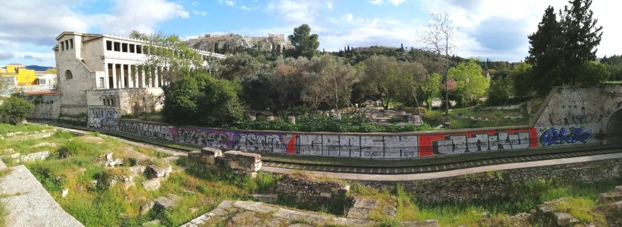 Αθήνα: Καθάρισαν το μεγαλύτερο γκράφιτι της πόλης
