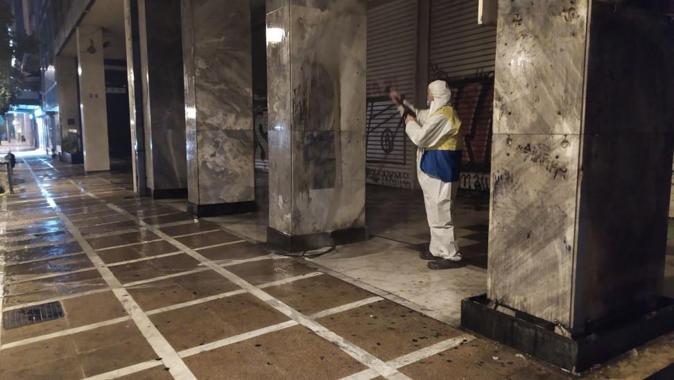 Με 40 επιχειρήσεις αντί-γκράφιτι καθάρισαν 19.000 τ.μ. της Αθήνας | ΣΚΑΪ