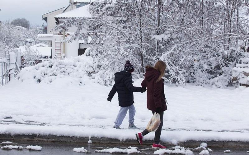 χιόνια κλειστά σχολεία αττική