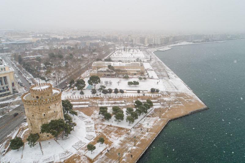 χιονισμένη Θεσσαλονίκη