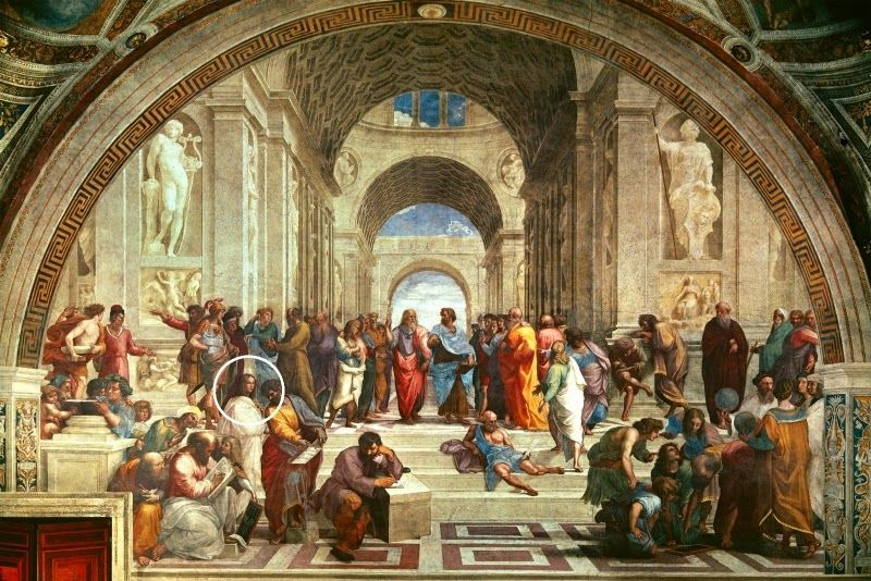 """Η Υπατία στην διάσημη νωπογραφία του Ραφαήλ """"Η Σχολή των Αθηνών"""" στο Βατικανό. TheSchoolOfAthens   School of athens, Art history, Classical art"""