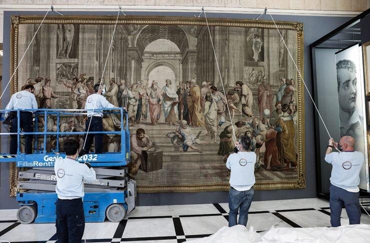 Στη Βουλή η ταπισερί «Σχολή των Αθηνών» της Γαλλικής Εθνοσυνέλευσης