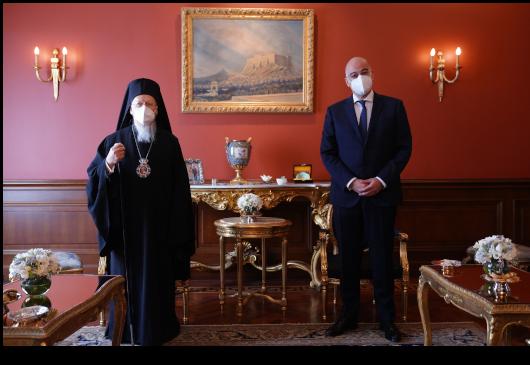 """Νίκος Δένδιας σε Οικουμενικό Πατριάρχη: """"Οι πρωτοβουλίες σας έχουν εξαιρετικό ενδιαφέρον για εμάς"""" - Ορθοδοξία News Agency"""